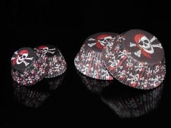 """Caissettes à cupcakes """"Pirate"""""""