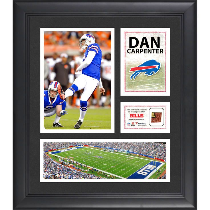 "Dan Carpenter Buffalo Bills Fanatics Authentic Framed 15"" x 17"" Collage with Game-Used Football - $63.99"