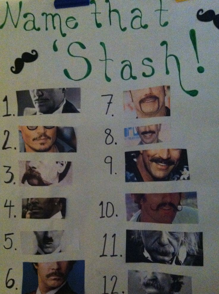 Name that 'Stash. Beer and Diaper Party game.