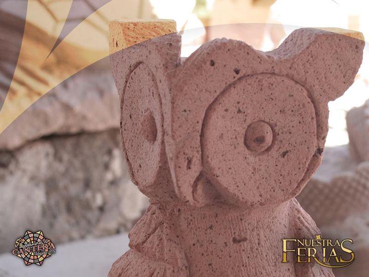 Tecolote en cantera Rosa #NuestrasFerias #ExpoFeriaCantera #Tlalpujahua #PueblosMagicos