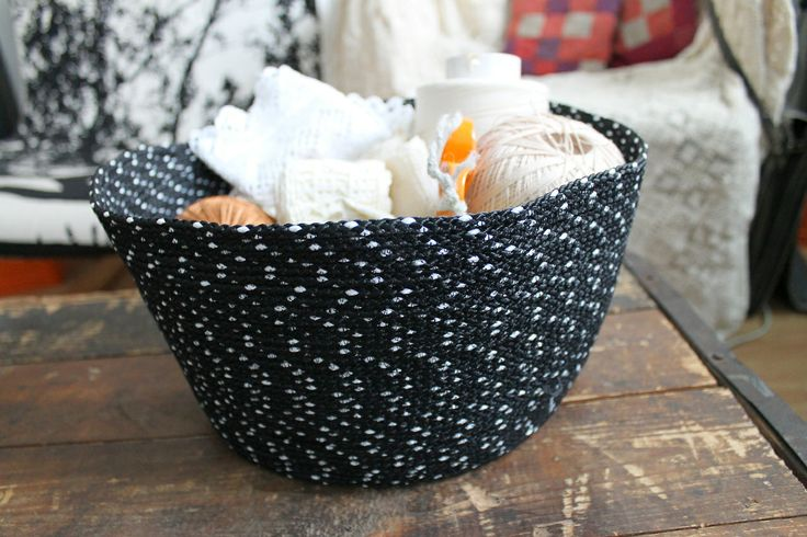 basket from polyester cord