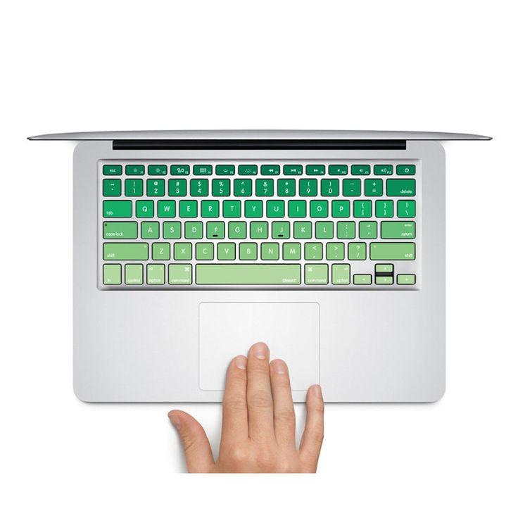 Macbook pro decal sticker Macbook Keyboard Decal Green Keyboard Skin Macbook Air Sticker apple wireless keyboard Macbook vinyl sticker by MixedDecal on Etsy
