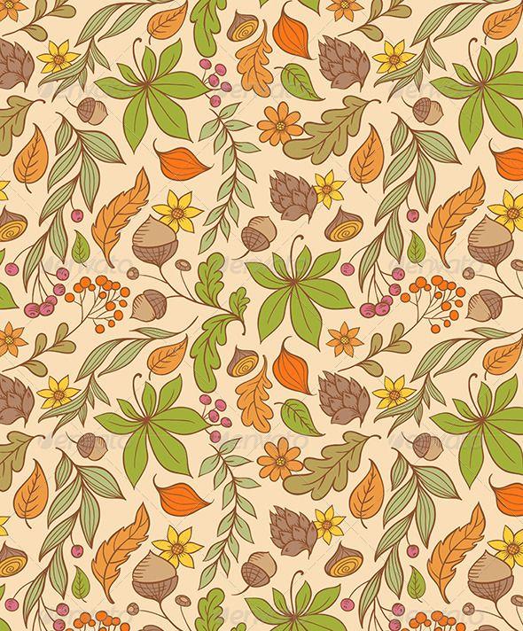 Autumn Seamless Pattern Fall Illustration 배경화면 가을