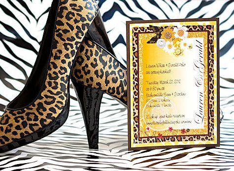 Wild Thing Leopard Wedding Invitation Suite 5x7 by AllisStudio, $5.05