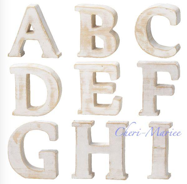 もみの木でできた、フレンチカントリー風木製アルファベット【結婚式グッズ通販シェリーマリエ】