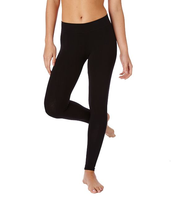 Basic black leggings || Super soft organic women's long leggings from Wear PACT. Comfortable Fair Trade Certified cotton leggings, ideal for working out or louging around. Shop organic now!