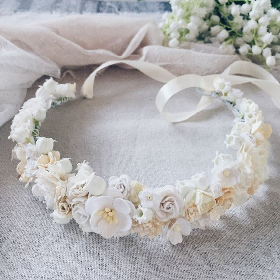 Lilies of the valley,Bridal crown, Flower crown,Ivory flower crown,bridal flower crown, wedding crown,bridal floral crown,white flower crown