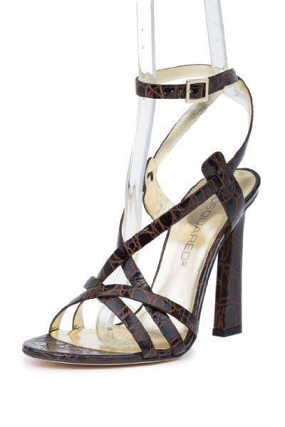 Dsquared2 Womens Crocodile Print Leather High Heels Sandals http://www.aliexpress-myselfjewellery.com