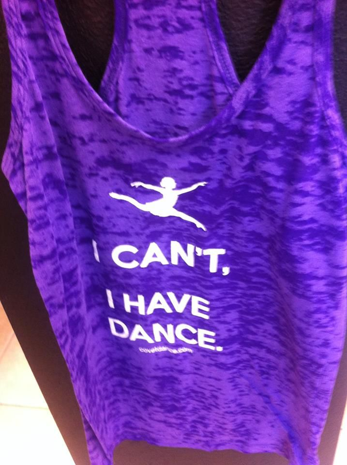 I Can't I Have Dance Tank Now in Purple!  The Dance Shoppe