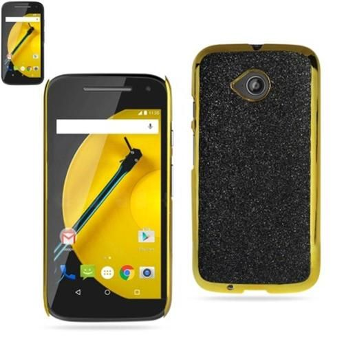Reiko Glitter Shell Case For Motorola Moto E Lte (2Nd Generation) Black