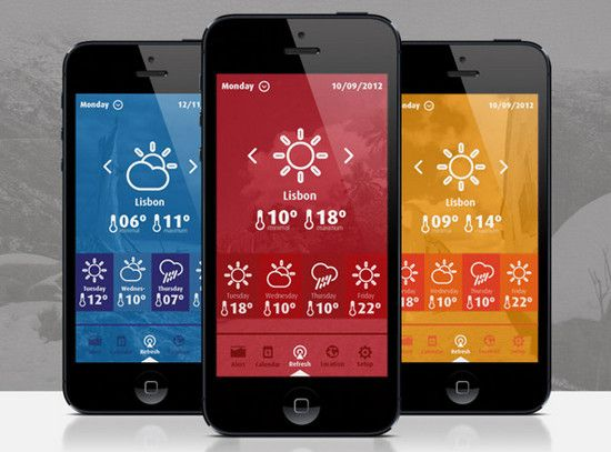 Beautifully Designed Weather App http://designmodo.com/weather-mobile-apps/