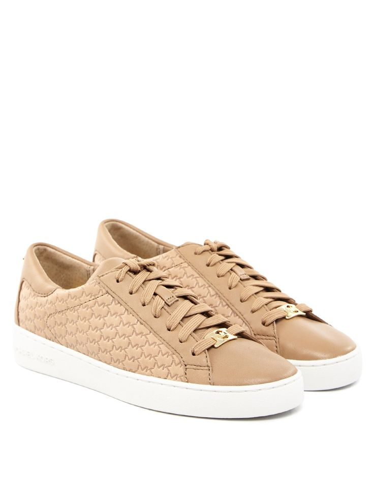 michael kors sneakers damen beige monogram damen michael michael kors kristy sneaker pin by. Black Bedroom Furniture Sets. Home Design Ideas