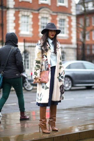 See the best street style looks at London Fashion Week right here::