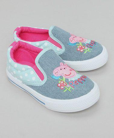 Blue Denim Peppa Pig Canvas Skate Shoes by Peppa Pig Footwear on #zulilyUK today!