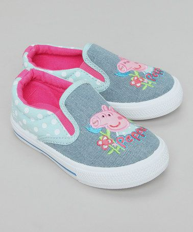 Blue Denim Peppa Pig Canvas Skate Shoes by Peppa Pig Footwear on #zulilyUK today!