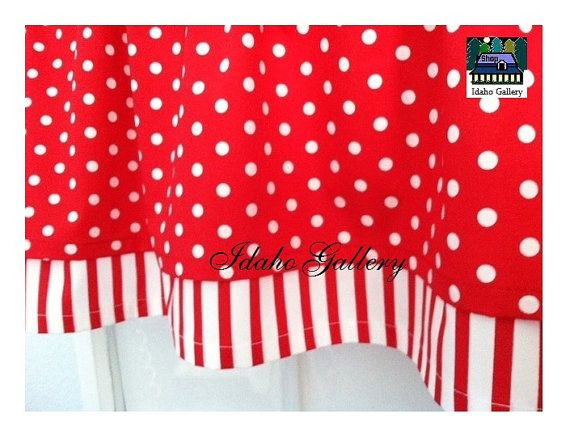 Red And Turquoise Shower Curtain. Cherry Red and White Stripe Polka Dot Double Layer Little Curtain Retro  Style Valance 62 best EVERYTHING POLKA DOTS images on Pinterest dots