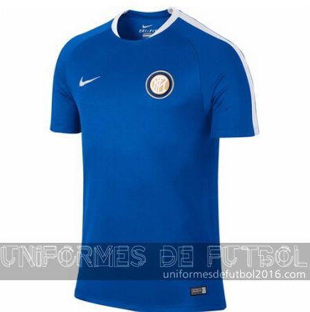 uniforme del entrenamiento azul Inter Milan 2015-16  | uniformes de futbol economicos