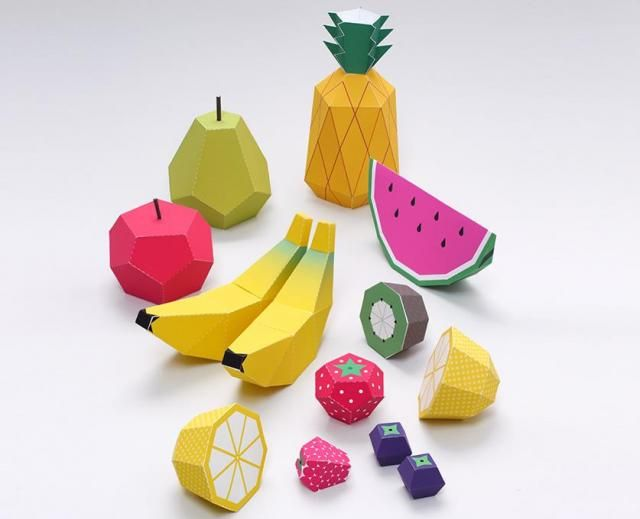Papermau: Play Fruits Paper Toys for Kids - by Mr. Printable...