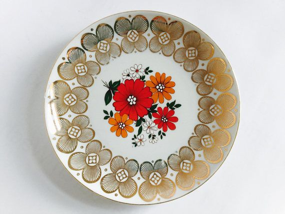 1950s side plate Winterling Röslau small plate with flowers