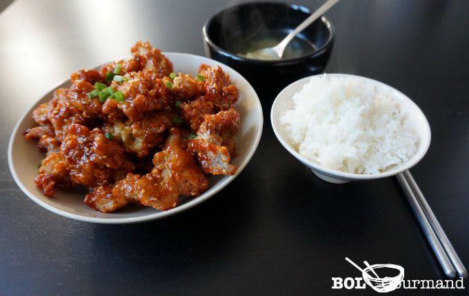 Idée de recette de cuisine coréenne : Recette-asiatique.com vous partage la recette de Poulet frit coréen piquant facile.