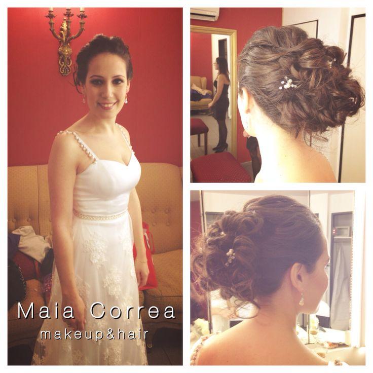 Ma Eva, Maquillaje y peinado recogido #bride #makeup #hair