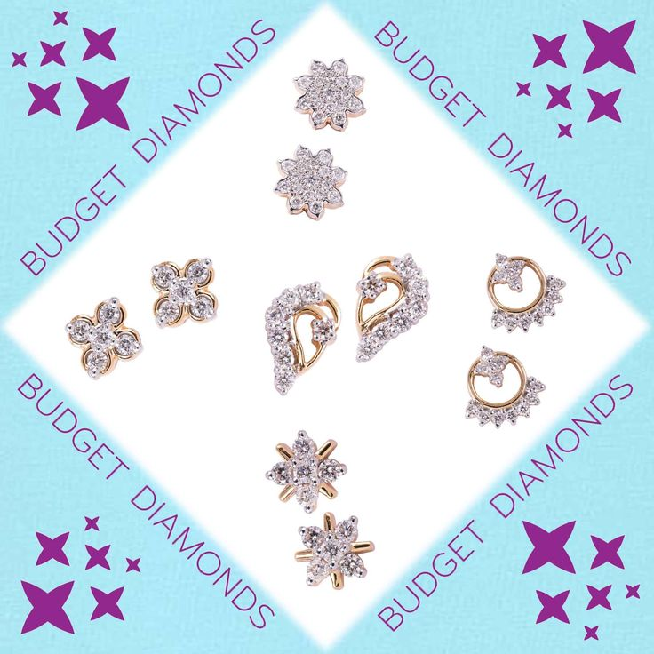 A selection of sparkling diamond clusters at unbelievable prices. Great designs, all certified and in 18K hallmarked gold. Introducing Budget Diamonds ----- only from the Gold Factory.  You have diamonds in your future.
