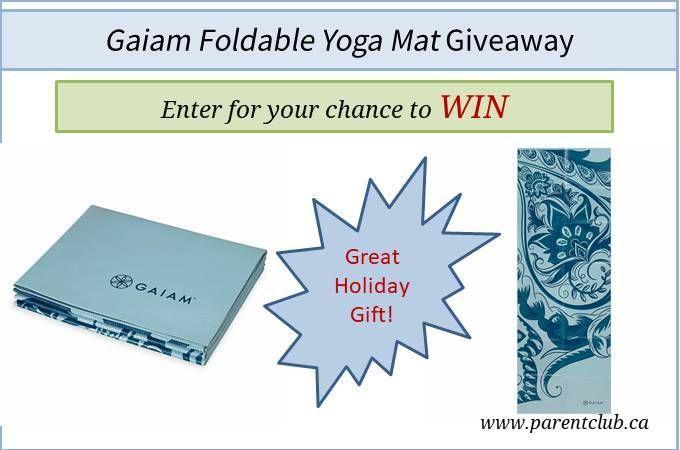 GaiamFoldable Yoga Mat Giveaway via www.parentclub.ca