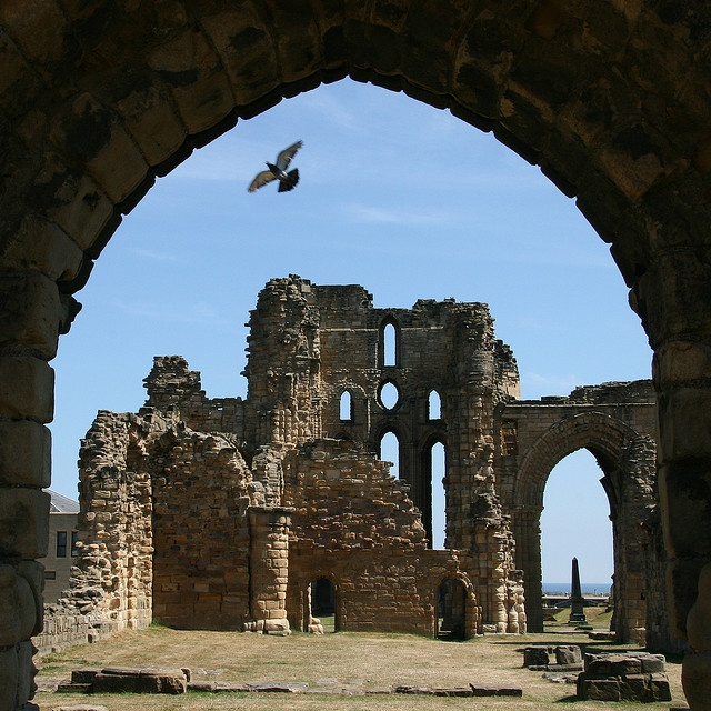 castles and beaches - the priory at tynemouth