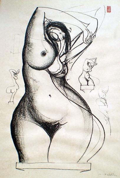 Brett Whiteley (1939 - 1992) Towards Sculpture 5 1977 Lithograph