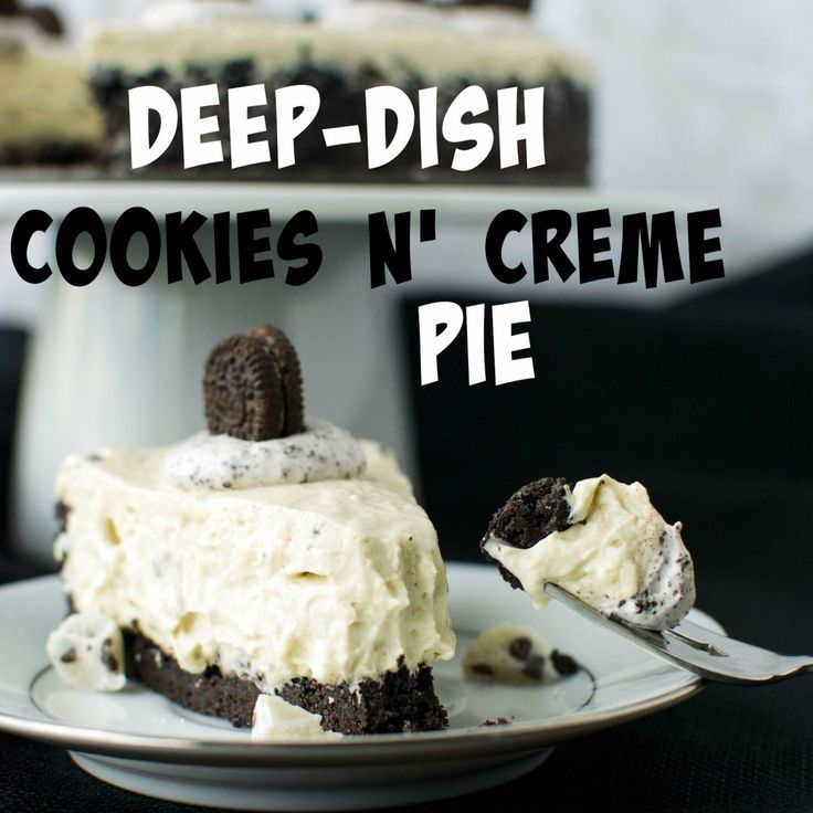 Ano-bake deep-dish pie that pairsthe smooth creaminessof Hershey's Cookies n' Creme chocolate withthe classic dark chocolatey flavorof Oreos! As I've mentioned before in my recipe post for Cookies n' Creme Pudding Cookies, my favorite candy bar has always been Hershey's Cookies n' Creme chocolate bar. There's just nothing like its perfect combination of smooth, milkywhite chocolate and dark chocolate Oreo... Read More