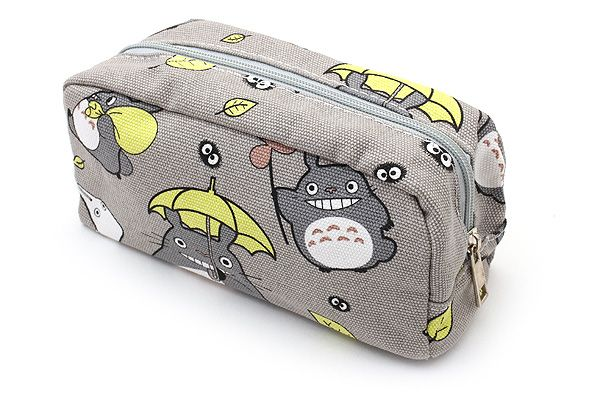 Totoro Large Pencil Case - Gray - BC 60282