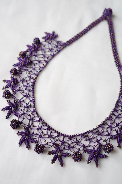 oya crochet/tat. necklace