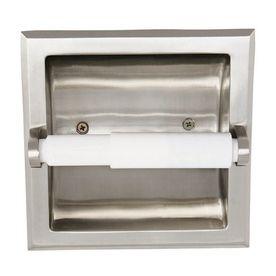 Design House Millbridge Satin Nickel Recessed Toilet Paper Holder