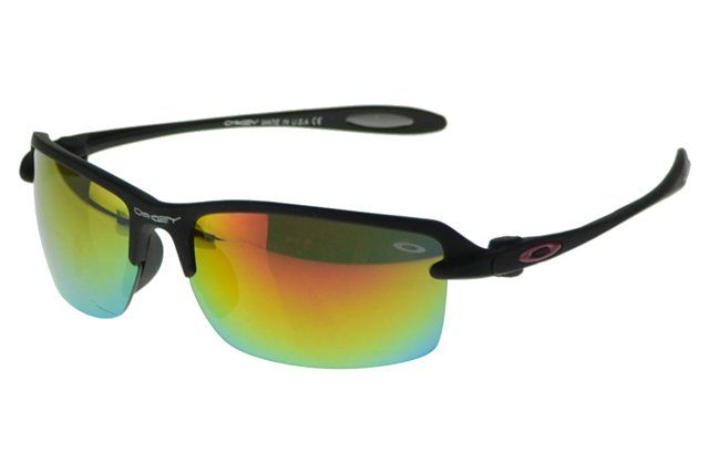 Wholesale Cheap Oakley Commit Sunglasses Black Frame Yellow Lens 1495#Oakley Sunglasses