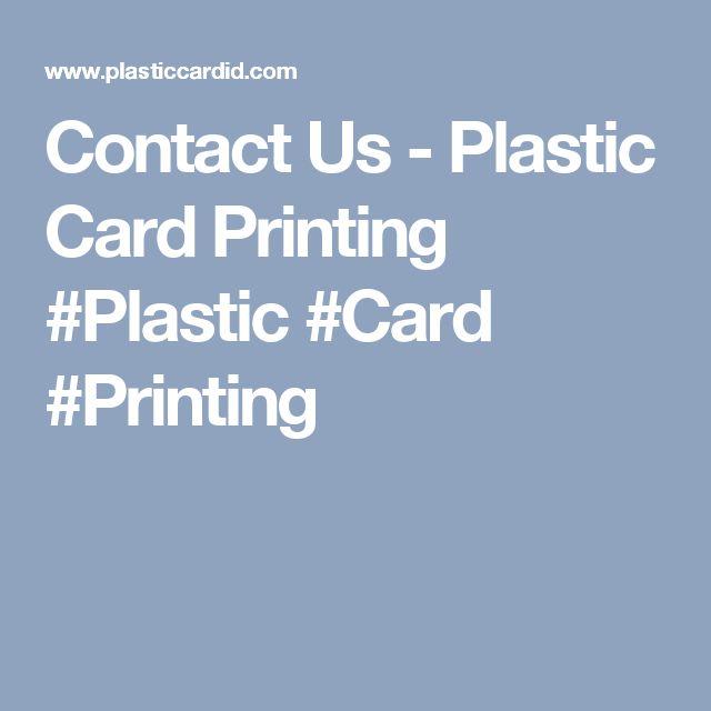Contact Us - Plastic Card Printing #Plastic #Card #Printing
