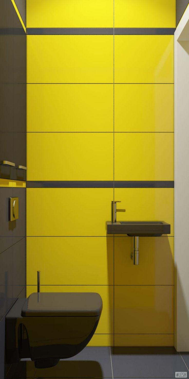 Дизайн интерьера желтый и черный цвет