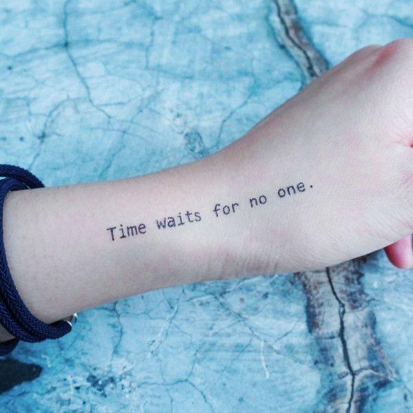 Life Lesson Quote.Time Flies Tattoo
