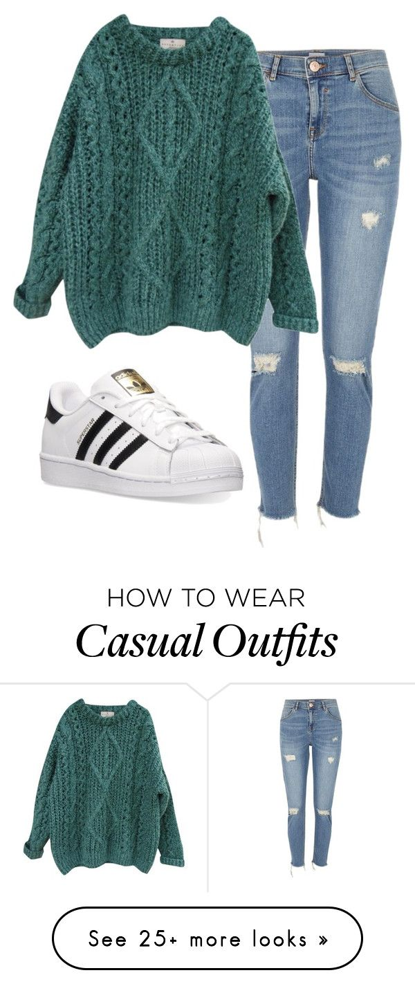 """meet and greet"" by thrxwbxck on Polyvore featuring River Island, Essentiel and adidas"