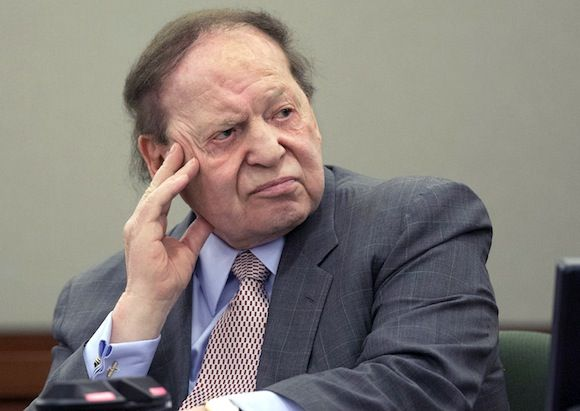 April 30, 2014. Sheldon Adelson summons several 2016 GOP candidates to decide which one to buy