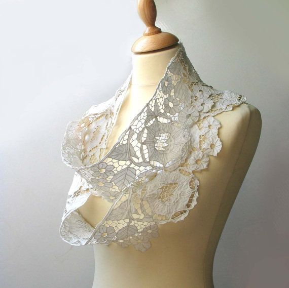 Vintage cutworked lace  Romanian country style by madlyvintage, $35.00
