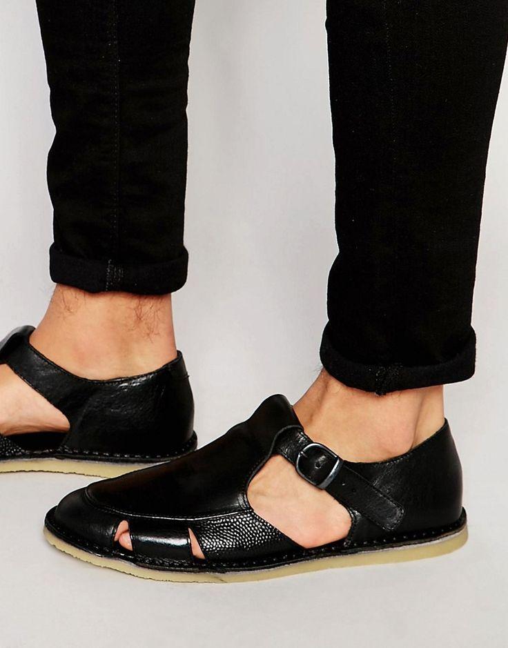 Image 1 ofKurt Geiger Dwight Leather Sandals