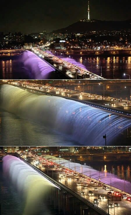 Banpo Bridge, South Korea. The Fountain Bridge
