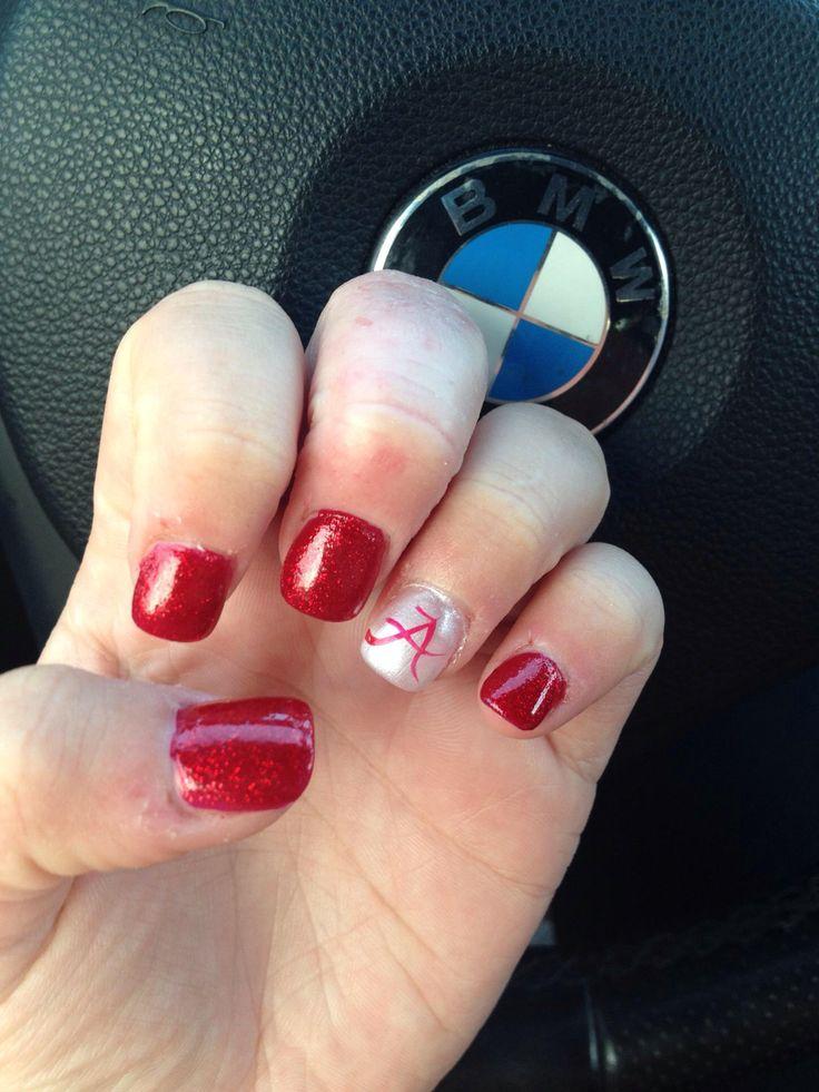 Alabama nails! #alabama #nails #acrylic #polish #design - 25+ Trending Alabama Nails Ideas On Pinterest Alabama Nail Art