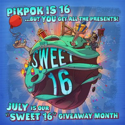 Check out our Facebook page in July for prizes, embarrassing stories from our past, and more! http://facebook.com/pikpokgames