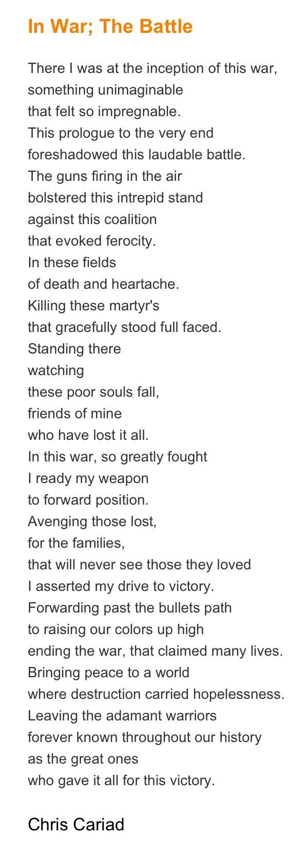 In War; The Battle #Poem #Poetry