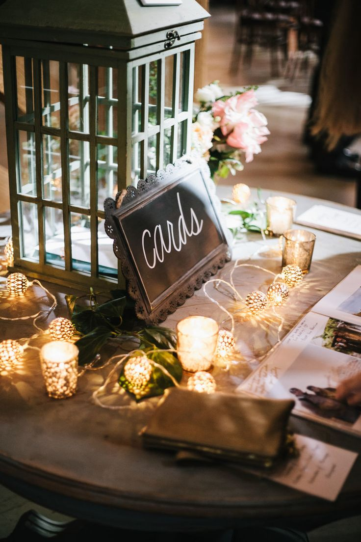 Wedding Cards at Gift Table  Gift Card Holder Ideas
