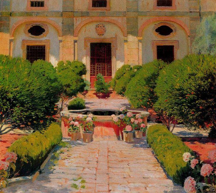 Claustro de Georges Sand. 1905. Santiago Rusiñol.