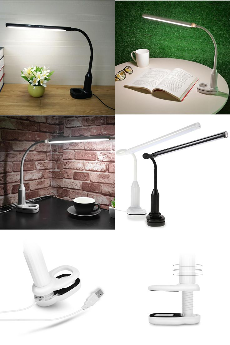 [Visit to Buy] Led Table Lamp Eye Protection USB Led Lamp Three Level Touch Control Dimmer Clip-on Led Light Book Reading Lamp LED Table Lamps #Advertisement