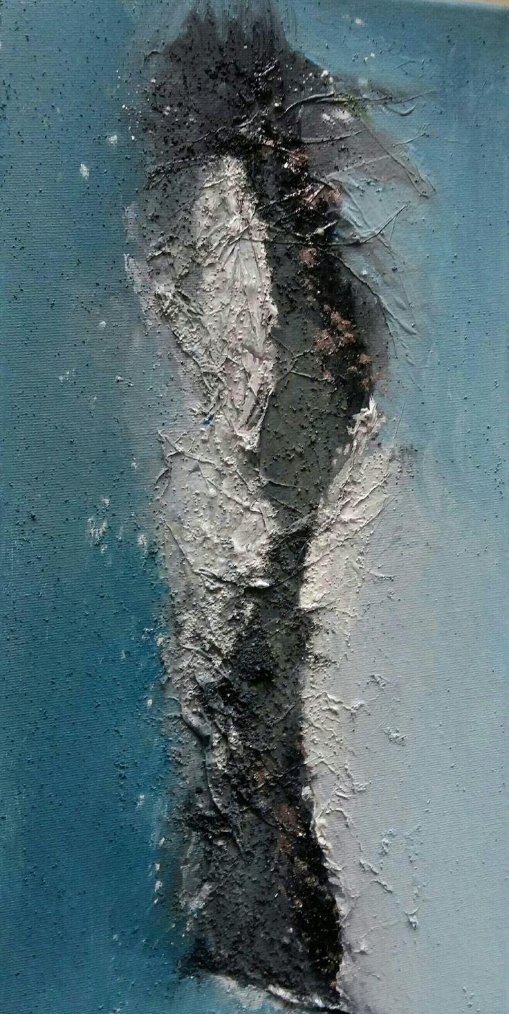 vague marine acrylique abstrait