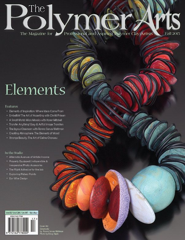 A polymer-centric magazine focused on intermediate to advanced polymer art techniques, production & marketing tips and tricks, polymer and craft issues, inside info from accomplished polymer artists and lots of eye candy.  This is a print copy; 68 pages of polymer clay information, tips, tricks and great photos to inspire your creativity and help you grow as an artist and seller of your art. See the second image for the table of contents.  I am the magazines creator, publisher, editor, and…